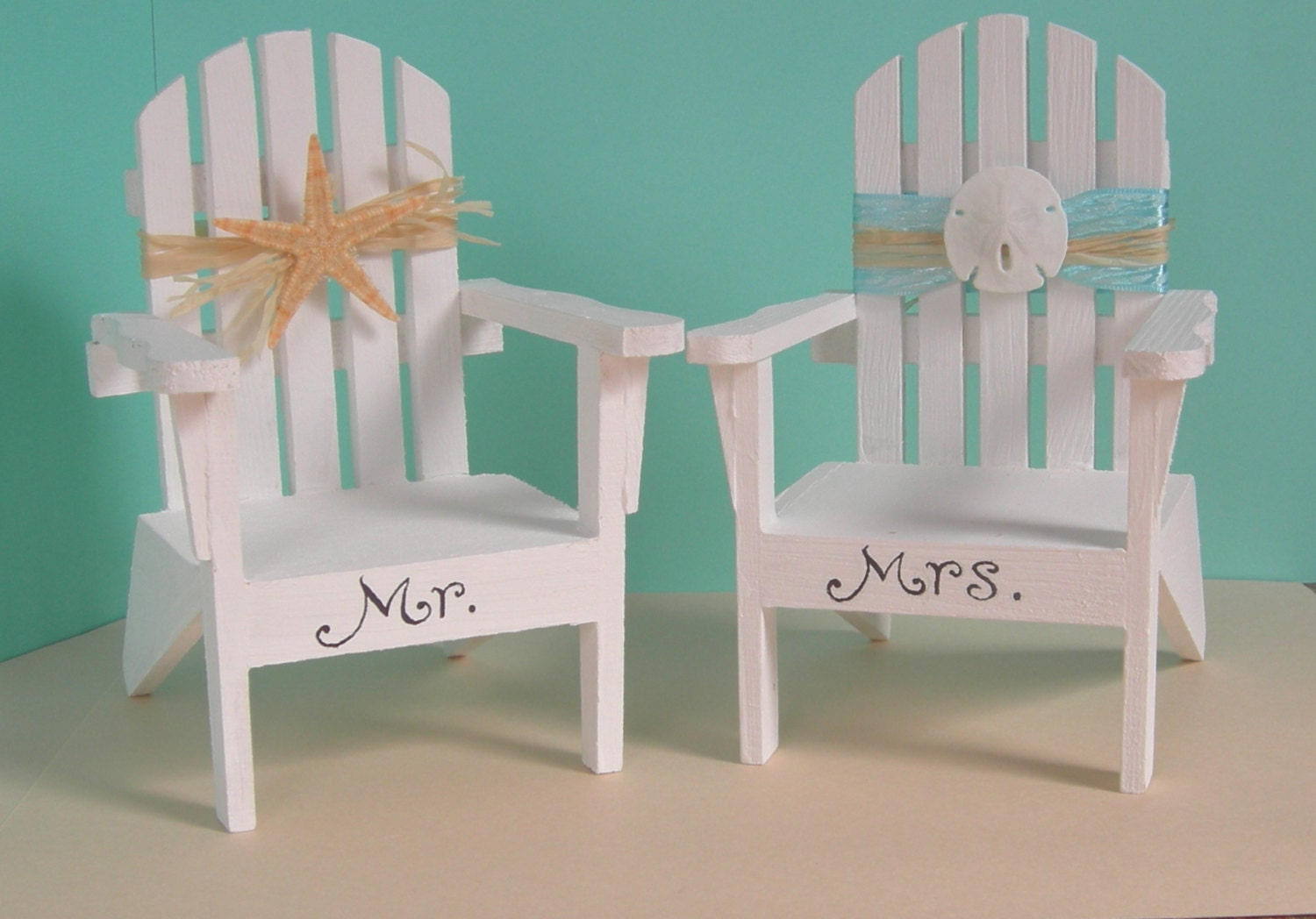 Adirondack Chair Beach Wedding Decoration or Cake Toppers