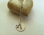 Hand Stamped French Eiffel Tower Necklace