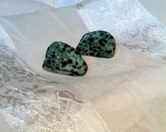 Green Leopard Stone Earrings