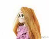 Polymer Clay Doll OOAK Art Doll Handmade Collectible Maggie