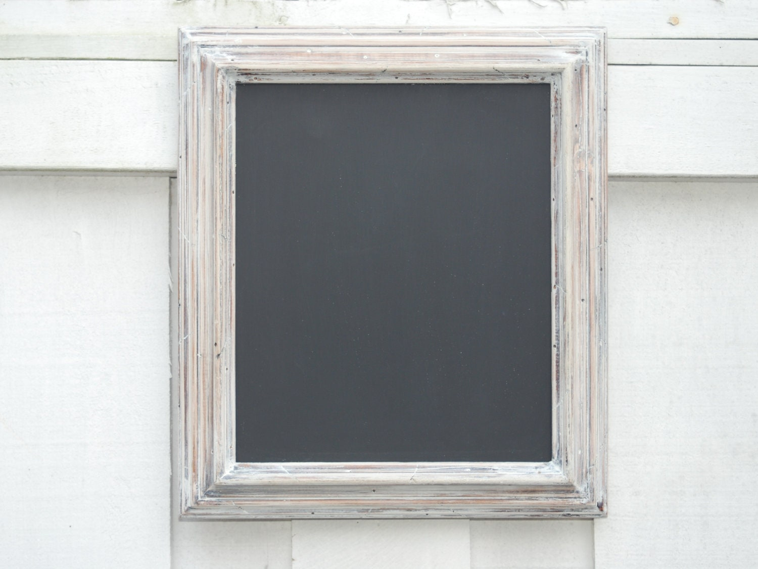 White Wood Frame : Chalkboard with distressed white wood frame by imprintdesign