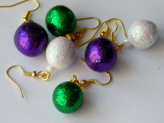 Christmas Festive Bauble Earrings choose your options
