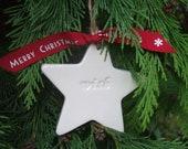 CPIEDRA order - Personalised Handmade Ceramic Star Christmas Decoration, Individually Boxed