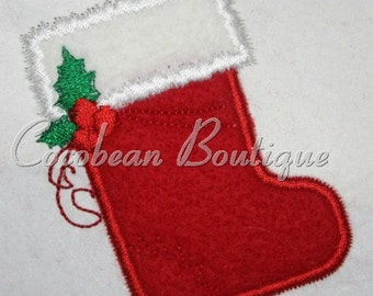 embroidery applique stocking