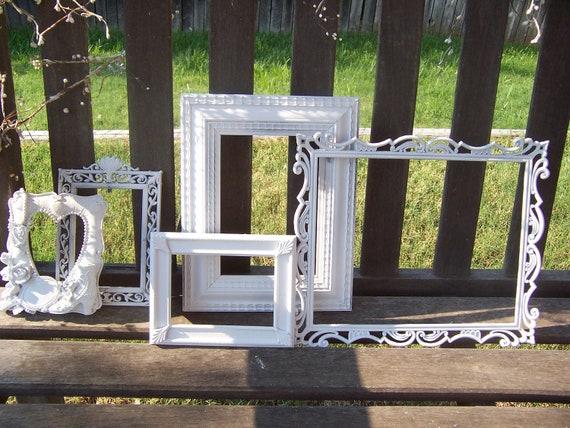 FRAME SALE Shabby White Ornate Picture Frames
