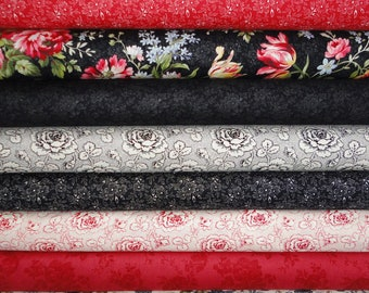 Penelope by Holly Holderman for Lakehouse Fabrics Floral Collection 9 Fat Quarters 9 FQ
