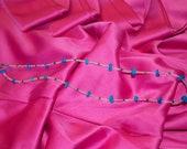 Teal Rock Necklace