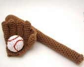 Baseball Glove, Bat, and Ball Set Amigurumi PATTERN at Absolutely Darling Crochet