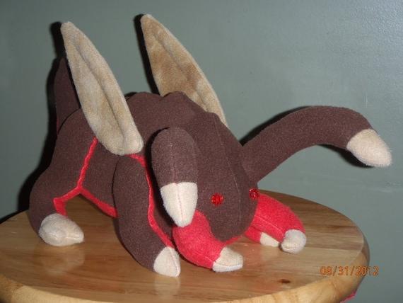 SEPTEMBER SALE, Starcraft zergling inspired fan art plush, handmade plushie
