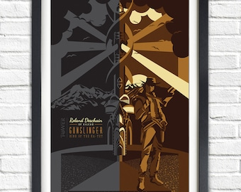 The Dark Tower - Roland Deschain - 19x13 Poster