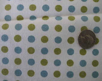 "Make Life Blue Dots Canvas 54"" 1 yd by Sweetwater for Moda"