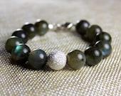 Luminescent Labradorite Beaded Crystal Bracelet by Aloha Shakti