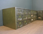 Vintage Metal Parts Cabinets - Free Shipping