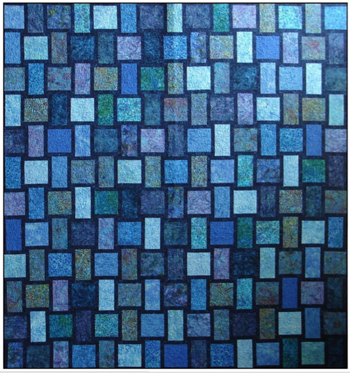 Blue Moon Quilt Kit With Pattern Blue Underground Studios Diy
