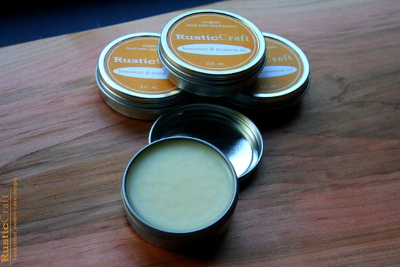 Wood Paste-Natural Beeswax  & Mineral Oil - Cutting Board Oil Conditioner Wood Butter - Wood Spoons, Wood Bowls - High Carbon Knives