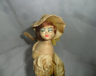 Sweet Vintage LAYNA Can Can Dancer Doll from Spain Dressed in Yellow