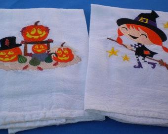 Halloween towels Set 2