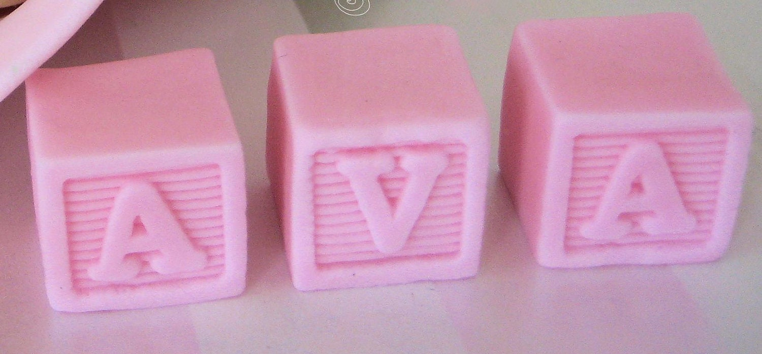 BLOCK LETTERS fondant Gum Paste Cake Toppers by ...