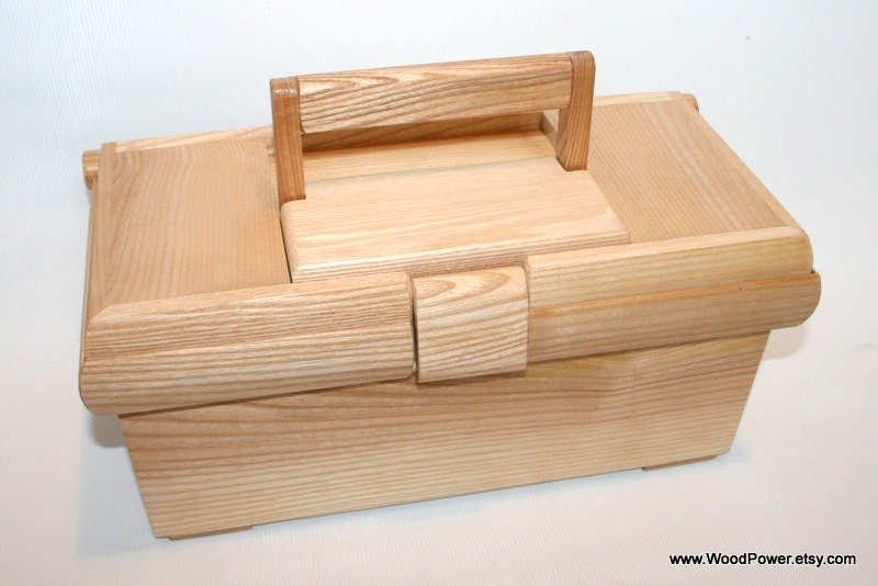 Items similar to Handmade Wooden Tool Box (ash wood) on Etsy