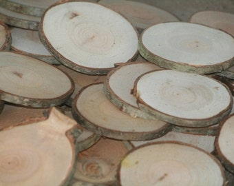 Wood Disc Tree Slices 400 Cherry Tree Cookies Wood Blanks Name Tags Wedding Decor