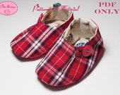 Baby shoe pattern - Red Plaid Loafer