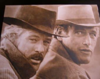"Robert Redford Paul Newman Sepia print  HUGE 11x14"" Butch Cassidy and the Sundance Kid"