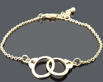 handcuffs bracelet -Gold bracelet- simple everyday jewelry -Mother's Day gifts