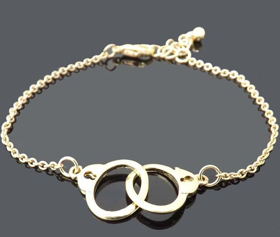 gold handcuff bracelet handcuffs bracelet gold bracelet simple everyday jewelry 5903