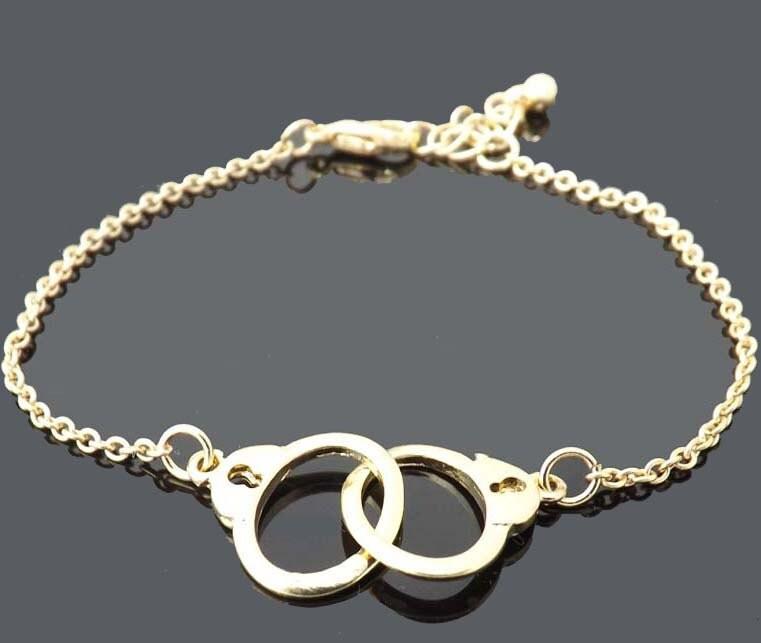 handcuffs bracelet gold bracelet simple everyday jewelry
