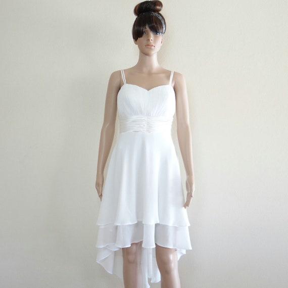 Wedding Dress.Bridesmaid Dress.White Evening Dress.Party Dress.Chiffon Dress.