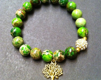 Tree of Life Stretch Beaded Bracelet