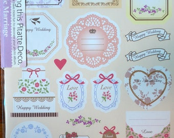 Scrapbooking Paper Stickers- Chic Marriage
