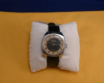 "Ussr Unusual  ""Raketa"" wrist watch 1960-70  two tone dial ULTRA rare black&white dial Very very good condition"