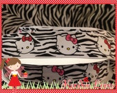 Zebra kitty ribbon 7/8 inch - 5 yards