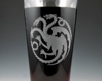 House Targaryen Game of Thrones Dual Sided Pint Glass
