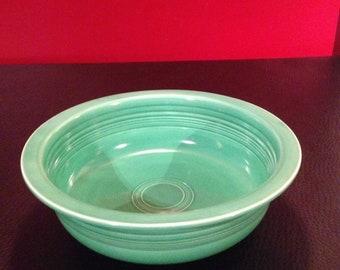 "Vintage Fiestaware green 9 1/2"" nappy bowl"