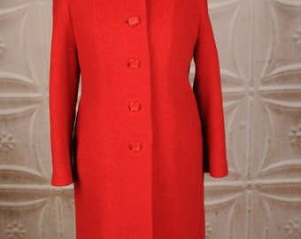 Vintage Shagmoor Coat in Red