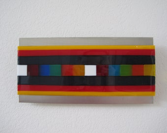 Sequential - Fused Glass Wall Art - 12x6