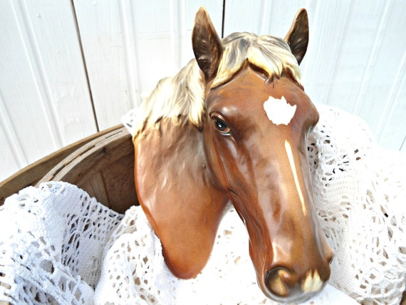 Vintage Horse Head Wall Plaque - Norcrest Japan - Christmas Gift Idea