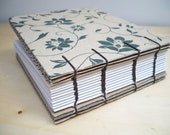 Eco Recycled Journal - Natural tones flower deco