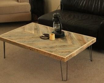 Reclaimed Wood Coffee Table - (Large Arrrow Table)