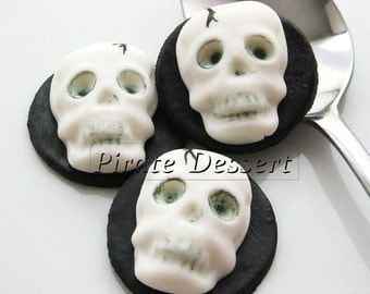 edible halloween cupcake toppers 3d skull fondant cake decorations halloween cupcakes skeleton 3