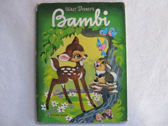 Giant Golden Book Walt Disney's BAMBI 80s