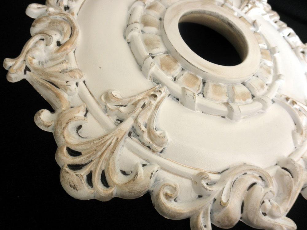 Items Similar To Ceiling Medallion Shabby Chic Custom