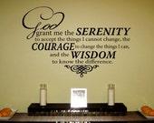 Items Similar To Serenity Prayer Vinyl Wall Art Decal Quot God