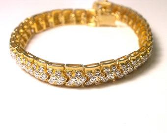 Vintage Bracelet - Gold over 925 Sterling Silver Bracelet - Weight 23 Grams # 757