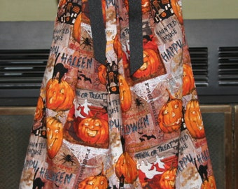 Boutique pillowcase dress Pumpkins and Spiders :FA011