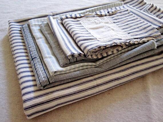 Vintage Mattress Ticking Project Bundle
