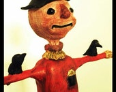Paper mache Scarecrow sculpture