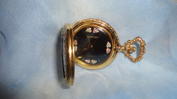 vintage quartz armitron pocket with eagle works free